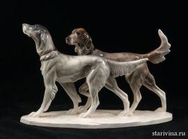Две охотничьих собаки, Katzhutte, Германия, 1914-45 гг