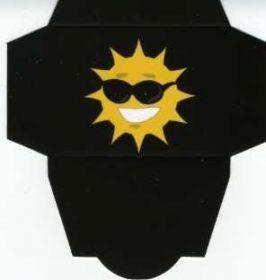 Картонная упаковка  чёрное солнце (50 шт)