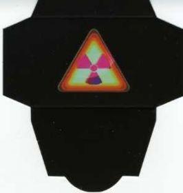 Картонная упаковка чёрная треугольник  (50 шт)
