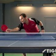 Теннисная рубашка Stiga Creator Хлопок (красно-черный)