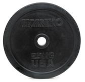 Диск черный обрезиненный Ivanko RUBO 5кг (Д-51-мм)