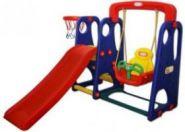 Детский игровой комплекс Happy Box Горка и качели с музыкальной панелью (Хэппи Бокс) JM-701