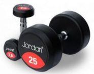 Обрезиненный   гантельный ряд  JORDAN от 2.5 до 25кг (10 пар) FDS-10 2,5/25kg