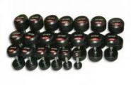 Обрезиненный   гантельный ряд  JORDAN от 2.5 до 50кг (20 пар) FDS-10 2,5/50kg