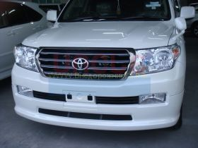 Аэродинамическая накладка на передний бампер губа (Тип 1) для Toyota Land Cruiser 200 2008