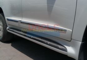 Молдинги на двери (Тип 4 широкие дизайн 2012) для Toyota Land Cruiser 200 2008