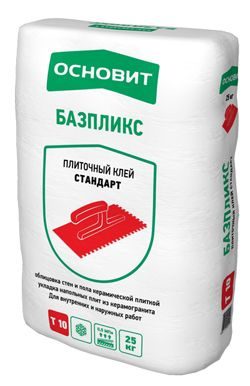 Основит Т-10 БАЗПЛИКС плиточный клей (25 кг)