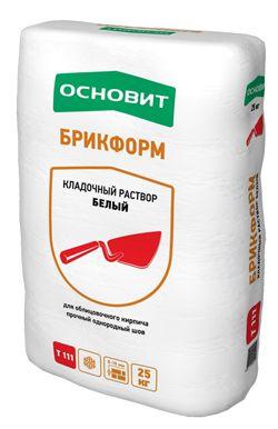 Основит Т-111 БРИКФОРМ кладочный раствор белый (25 кг)