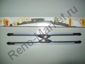Щетки стеклоочистителя бескаркасные (2шт,50см) Renault оригинал 288901158R