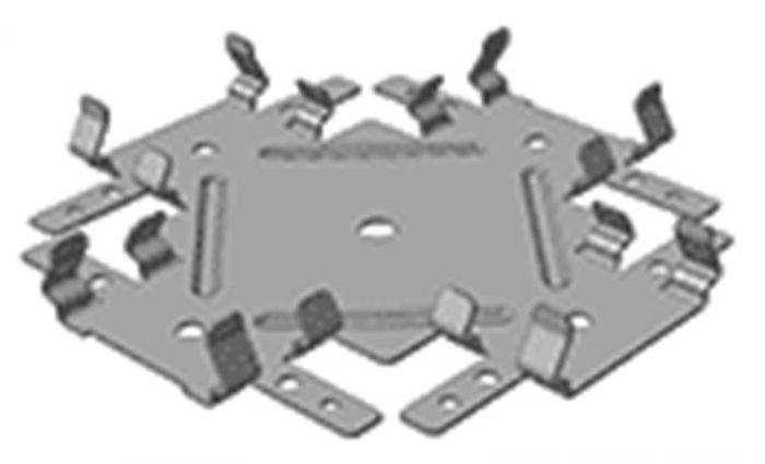 Соединитель профиля одноуровневый (краб) 60х27