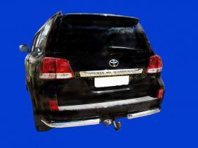 Защита заднего бампера уголки  70 мм (LC06-02) для Toyota Land Cruiser 200 2008