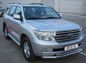 Пороги с площадкой 60 мм (LCL 000209) для Toyota Land Cruiser 200 2008