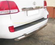 Защита заднего бампера 76х43 мм дуга (LCZ-000204) для Toyota Land Cruiser 200 2008