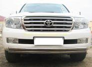 Защита переднего бампера 63х63 мм (LCZ-000207) для Toyota Land Cruiser 200 2008