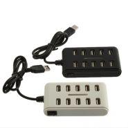 Компактный высокоскоростной 10 портовый USB разветвитель