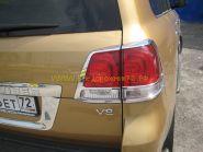 Хромированные накладки на заднию оптику (Тип 1) для Toyota Land Cruiser 200 2008