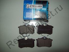 Тормозные колодки задние дисковые (MeganeII) Stellox 274003BSX аналог 6025371650, 7701206343, 7701206784, 7701207484, 7701207695, 7701208213, 7701208416, 7701208421