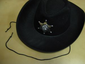 Шляпа шерифа черная -2