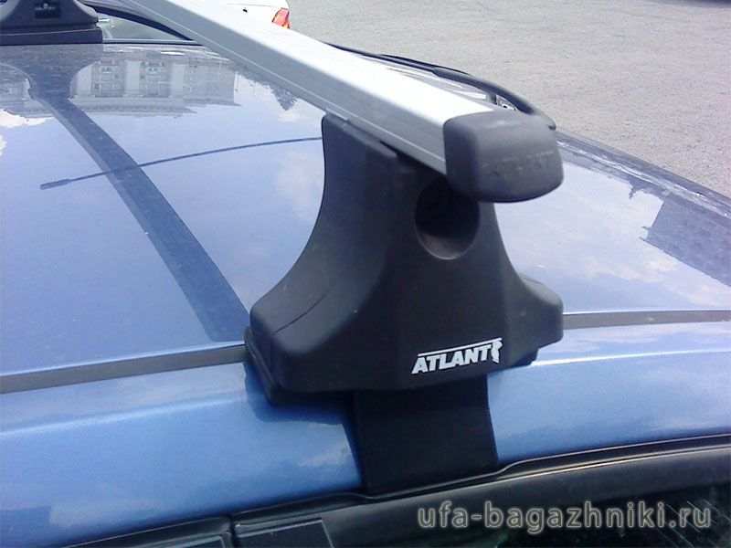 Багажник на крышу Ford Fusion, Атлант, прямоугольные дуги
