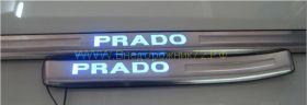 Накладки на пороги с подсветкой (Тип 3) для Toyota Land Cruiser Prado 150