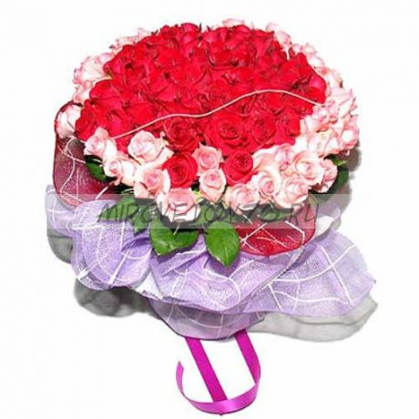 "Букет ""101 красно-розовая роза"""