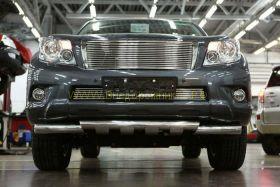 Решетка в передний бампер (Тип 3)  для Toyota Land Cruiser Prado 150 2010
