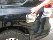 Хромированная накладка на лючек бензобака (Тип 2) для Toyota Land Cruiser Prado 150