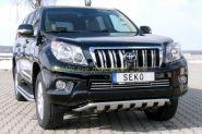 Защита переднего бампера 50 мм с пластинами (491220) для Toyota Land Cruiser Prado 150 2010