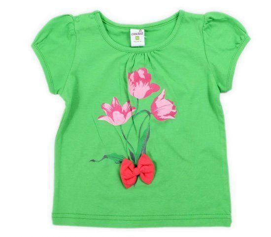 Блуза для девочки Тюльпаны