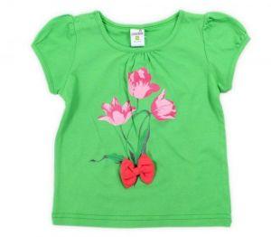 Зеленая блуза для девочки
