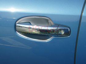 """Хромированные накладки на ручки  (Тип 3 гладкие) """"2 или 4 кнопки"""" для Toyota Land Cruiser 200 2008 / Lexus LX"""