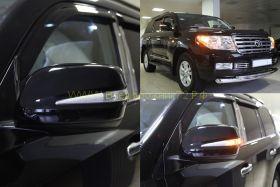 Корпуса зеркал с повторителем поворота тип Lexus (в цвет авто) для Toyota Land Cruiser 200 / Lexus LX