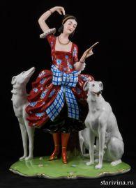 Дама с собаками, Fraureuth, Германия, до 1926 года, АртДеко