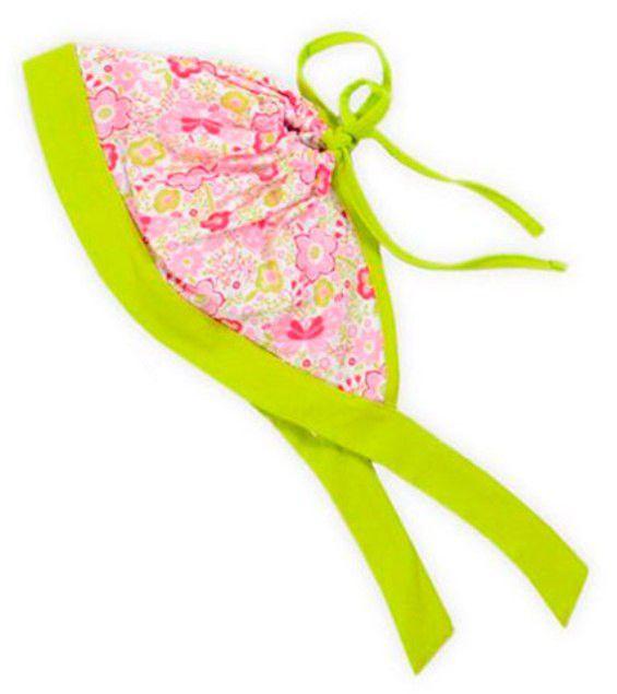 Косынка для девочки зеленая