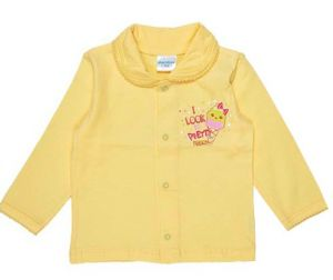 детская желтая кофточка