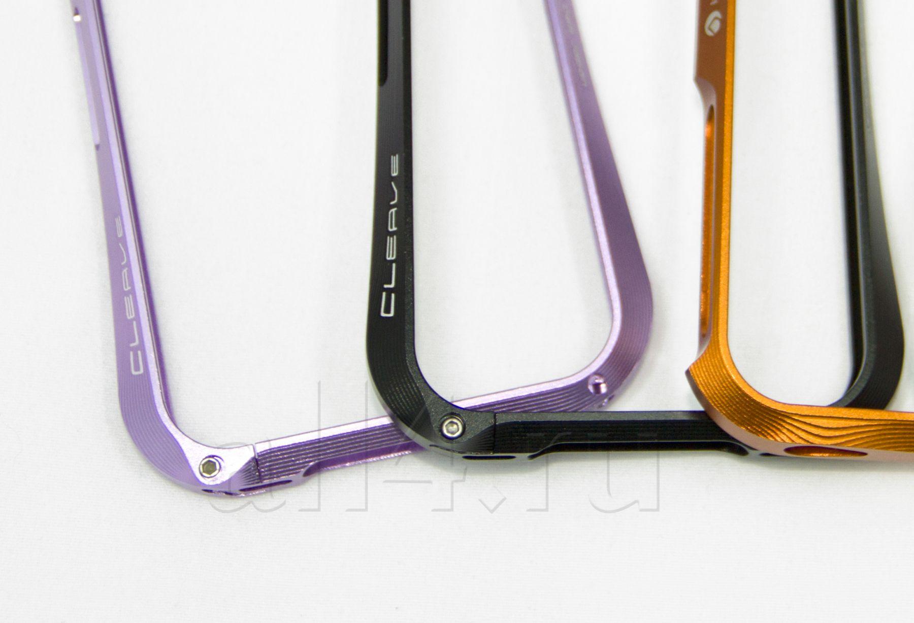 Бампер металлический CLEAVE  для iPhone 4/4S фиолетовый