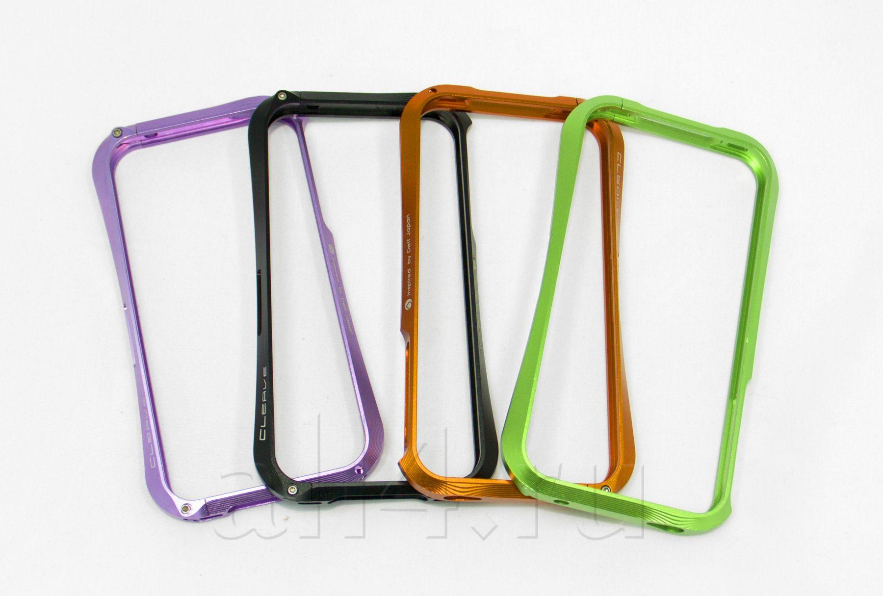 Бампер металлический CLEAVE  для iPhone 4/4S зеленый