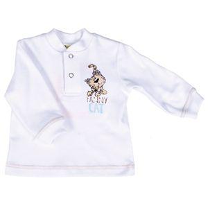 Джемпер для мальчика белого цвета