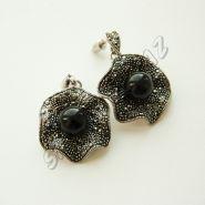Серьги черный жемчуг ПУ-004-4