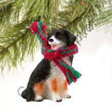 Бернский зенненхунд новогоднее украшение «Теплый шарф»