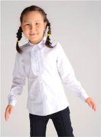 Белая блузка для девочки Крокид ТК39017