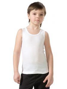 Белая майка для мальчика Р1513831