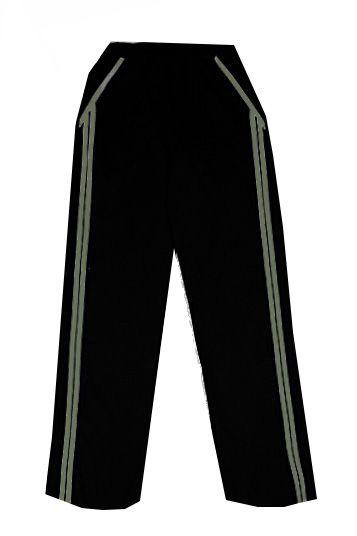 Теплые черные штаны с лампасами