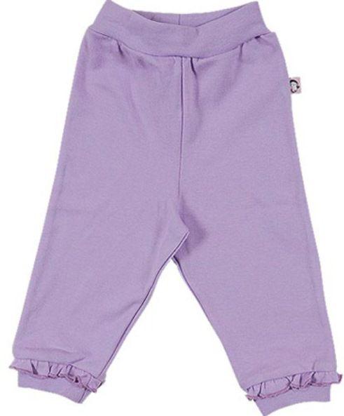 Теплые лиловые штанишки для девочки