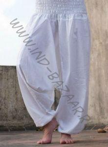 Белые штаны афгани для йоги