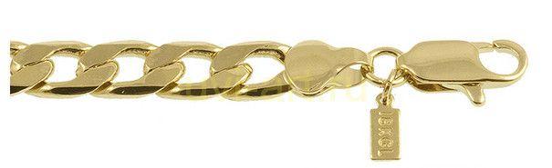 Стильный мужской позолоченный браслет, 7 мм (арт. 160145)