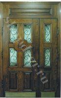 Металлические двери со стекло пакетом элементами ковки