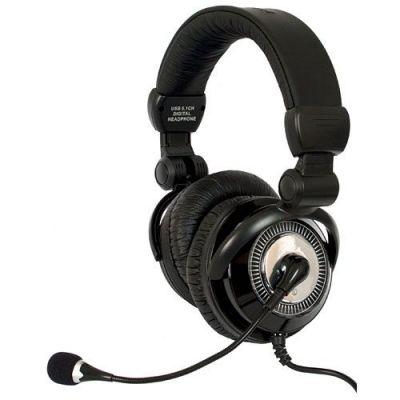 Акция!!! Наушники с микрофоном игровые HN-G117 USB, 5.1, вибрация, 2.6 м каб.