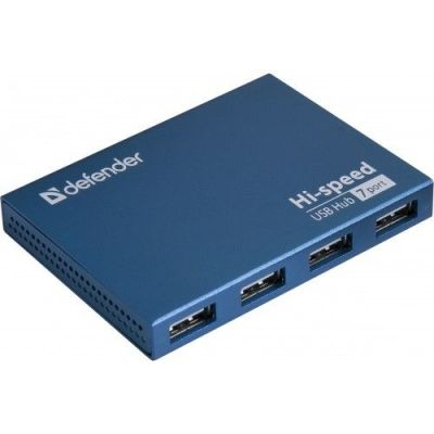 Акция!!! Универсальный USB разветвитель Septima Slim USB2.0, 7портов,блок питания2A