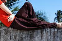 Индийские штаны алладины коричневого цвета, купить в интернет-магазине